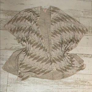 Beige Knit Kimono